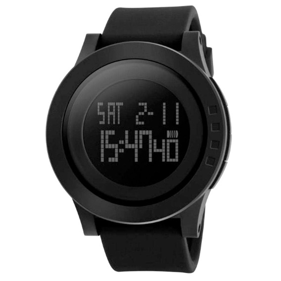 Relógio Masculino Digital Skmei Preto Resistente À Água