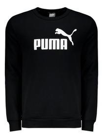 Moletom Puma Essentials Crew Logo Preto