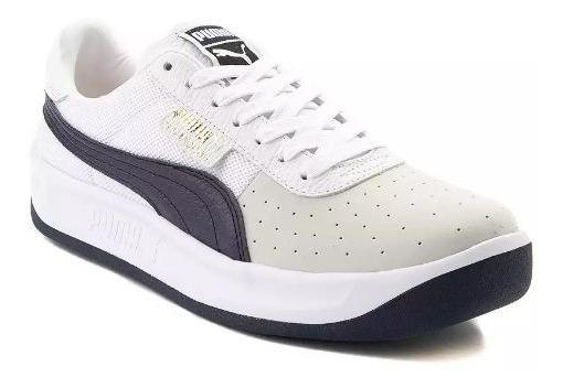 Tenis Puma Mod. 361808 California Hombre Blanco Azul Navy/ J