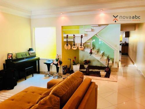 Sobrado Com 3 Dormitórios À Venda, 195 M² Por R$ 901.000 - Parque Das Nações - Santo André/sp - So0410