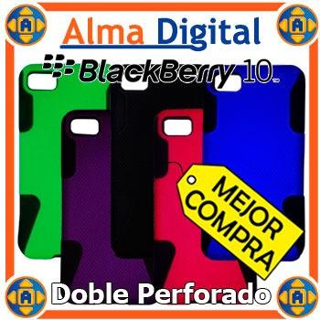 Forro Doble Perforado Blackberry Z10 Estuche Funda Z 10