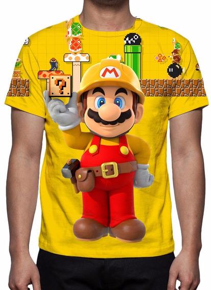Camisa, Camiseta Game Nintendo Super Mario Maker - 2015