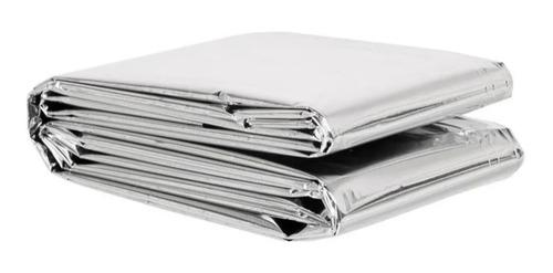Imagem 1 de 5 de Cobertor Manta Térmica Aluminizado Isolante Emerg Resgate