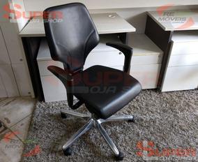 Cadeira Escritório Diretor Giroflex G64 Couro Multi Regulag.