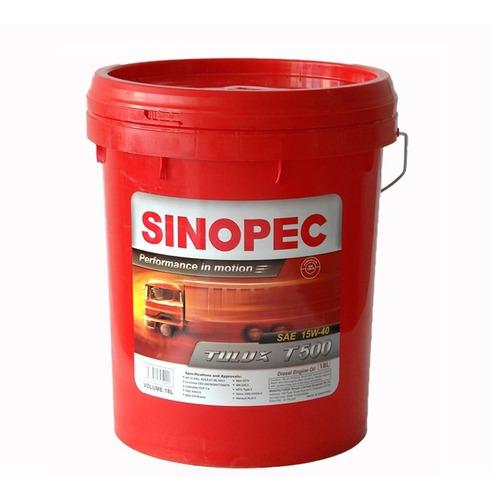 Sinopec - Aceite Lubricante 15w40 Diesel (18 Lt. Y 200 Lt.)