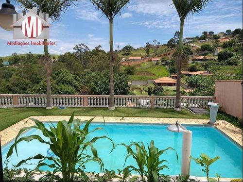 Imagem 1 de 28 de Linda Chácara Com 02 Dormitórios, Área Gourmet, Piscina, Pomar, Jardim, À Venda, 1000 M² Por R$ 440.000 - Zona Rural - Pinhalzinho/sp - Ch0113