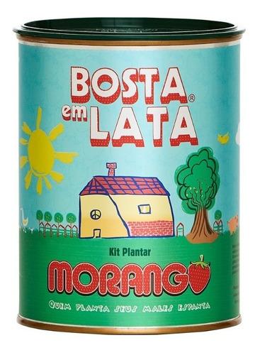 Imagem 1 de 3 de Kit Plantar Bosta Em Lata Morango - 330 G