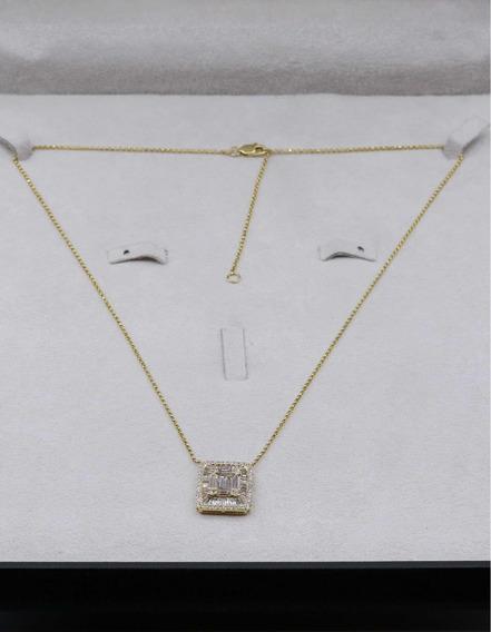 Colar Em Ouro Com Diamantes