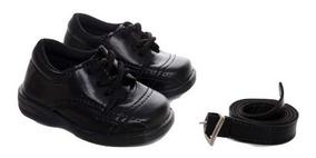 Sapato Social Infantil Masculino 583 Com Cinto Brinde Meias