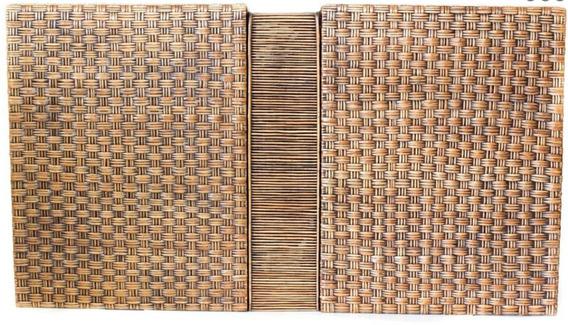 Cabeceira Para Cama Casal Quarto Vime Natural 1,1x2x0,13m