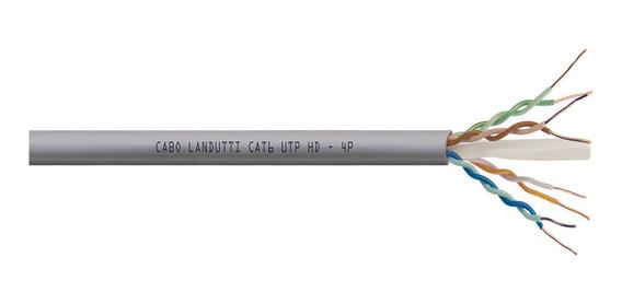 Cabo Lan Landutti U/utp 23awg 4 Pares Cat6 Hd Cm 100% Cobre