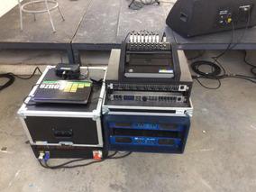 Mesa Dl 1608 Mackie + Case Com 03 Unidades Rack