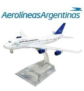 Aviao Comercial Metal Diecast Aerolineas Argentinas