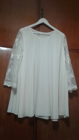 Vestido De Seda / C Encaje