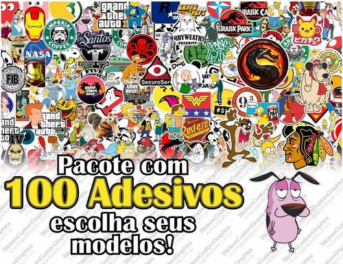 Adesivos Geek, Nerd E Personagens (100uni.)