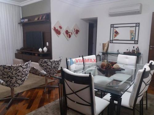 Apartamento Com 3 Dormitórios À Venda, 108 M² Por R$ 470.000,00 - Jardim Aquarius - São José Dos Campos/sp - Ap2702