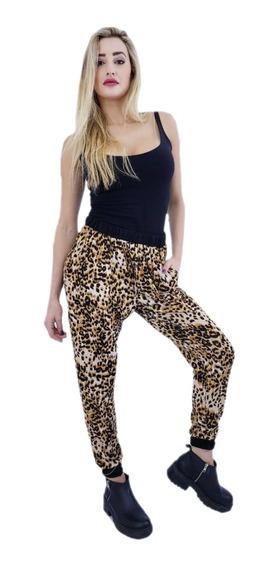 Pantalon Babucha Lanilla Leopardo Animal Print