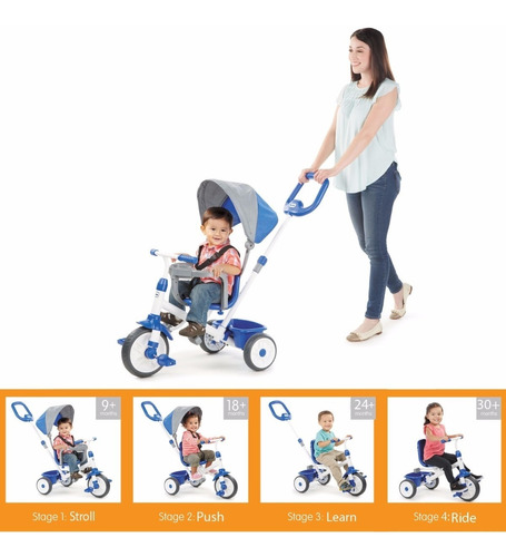 Little Tikes My First Trike 4-in-1 Triciclo Paseador Bebe W