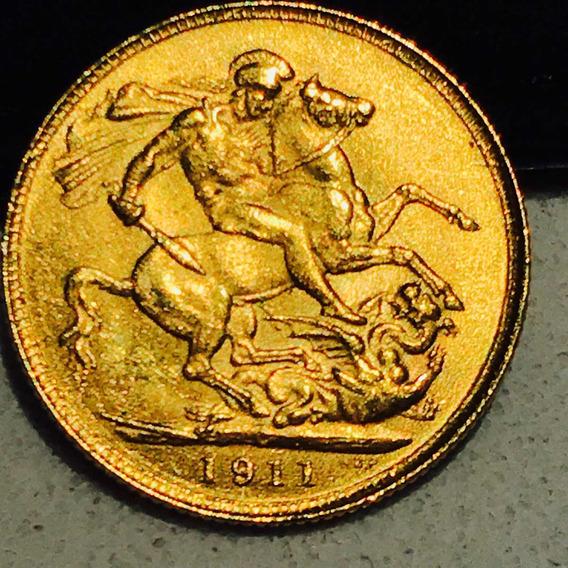 Moeda Antiga Inglesa Ouro 23k.8gr.1911