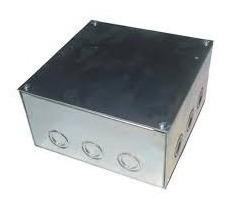 Caja Galbanizada 100 X 100 Y 100  Empaquetadura Y Tapa
