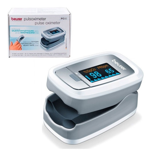 Imagen 1 de 8 de Beurer Po30 Oximetro De Pulso Saturometro Medicion Oxigeno