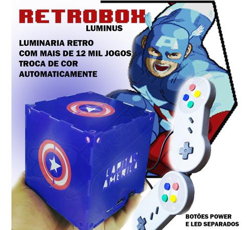 Imagem 1 de 2 de Retrobox Luminus, 20 Mil Jogos Na Memoria, Cubo Capitão Rgb