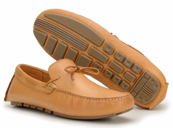 Sapato Mocassim Esporte Masculino Total Conforte 100% Couro