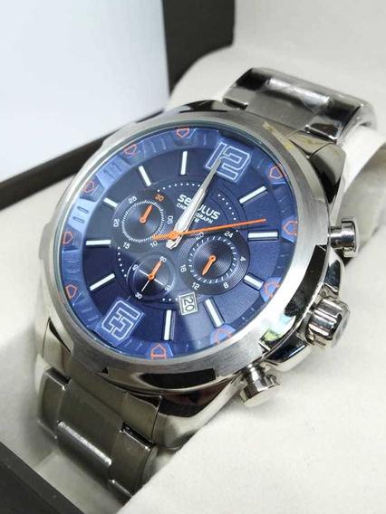 Relógio Cronógrafo Todo Em Aço Seculus 28957g0svna2