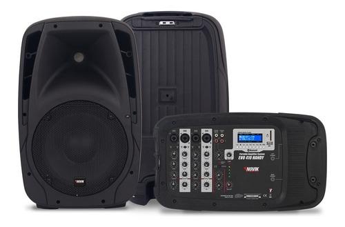 Combo Consola Novik Evo410 4 Canales Bluetooth+2 Bafles10 Sm