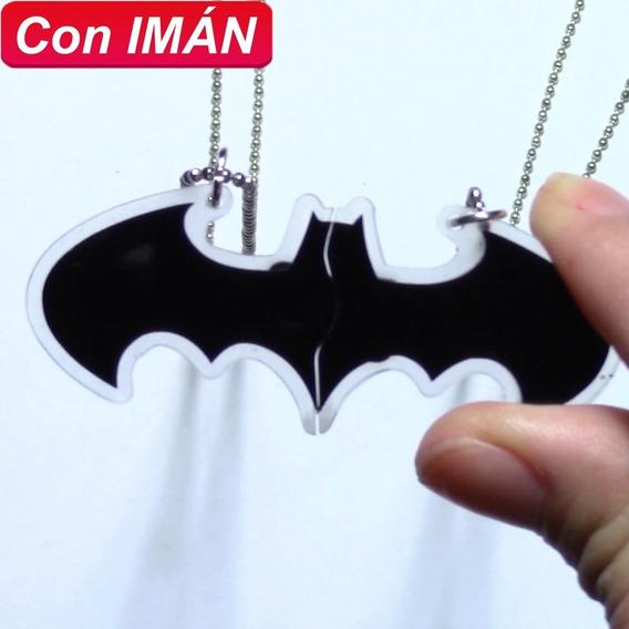 Collares Batman Con Imán Amor O Amistad