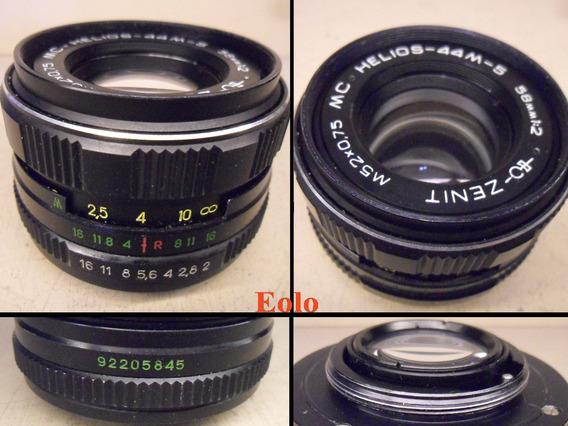 Lente Helios Zenit 58mm F2 Rosca M 42 * Ótima P/ Digitais &