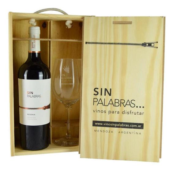 Caja Regalo Vino + Copa Sin Palabras
