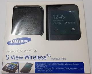 Sview Nfc Tapa Original Samsung Galaxy S5 Carga Inalambrica