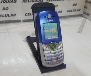 Celular Motorola C650 ¨ Mundo Oi ¨ Lindo 2005 Azul + Prata