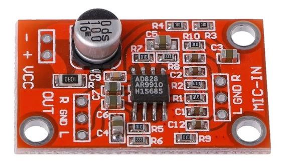 Placa Pró Áudio .pré Amplificador De Microfone 5-15v Dc