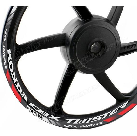 Friso Adesivo D10 Roda Refletivo Moto Honda Cbx 250 Twister