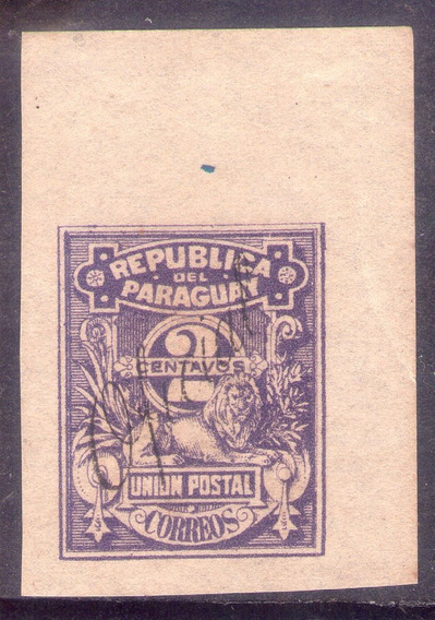 Paraguay Estampilla 1886. Oficial 2. Oferta.