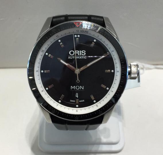 Reloj Oris Caballero Caratula Negra Modelo-7662-14
