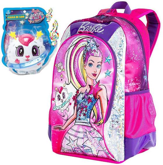 Mochila Barbie Original Sestine Alça Costas Rosa Infantil