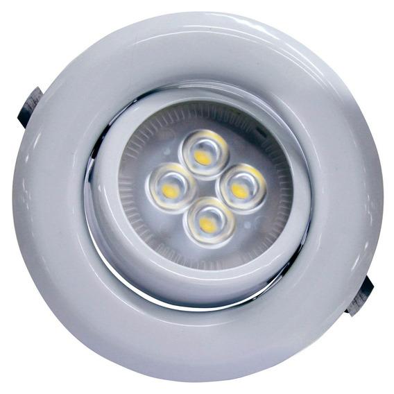 Spot Movel P/ Led C/ Lampada 6w Gu10 Sp14 6500k