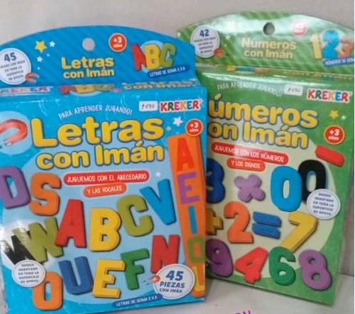 Imagen 1 de 2 de Promocion  De Numeros Y Letras Con Iman Kreker