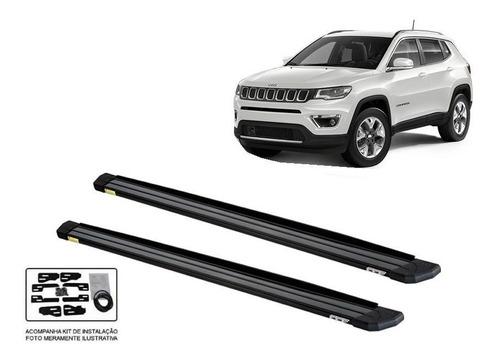 Imagem 1 de 3 de Estribo Plataforma Aluminio Slim Jeep Compass 2017 2020