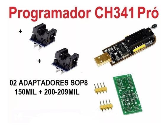 Gravador De Eprom + Adaptador Soic8 Sop8 150 200mils