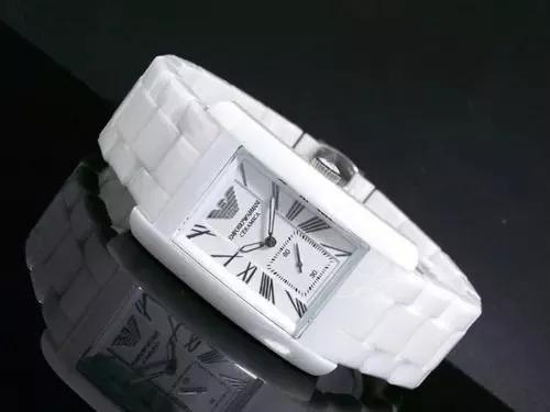 Relógio Nz1949 Empório Armani Ar1408 Cerâmica Branca / Caixa