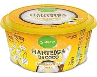Kit Com 3 Manteiga De Coco Natural Com Sal Qualicoco 200g
