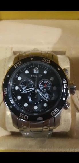 Relógio Invicta Pro Diver Prateado A Prova Dágua Original