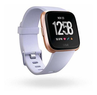Fitbit Versa Smart Watch Periwinkle Rose Gold One Size S & ®