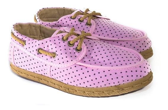 Zapatillas De Lona Tipo Mocasín