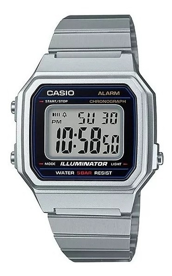 Relógio Casio Masculino Vintage Prata B650wd-1adf Original
