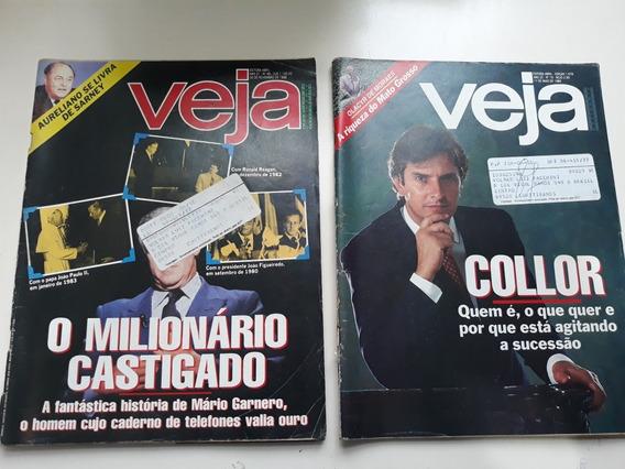 Lote Com 24 Revistas Veja Antiga Anos 80 E 90
